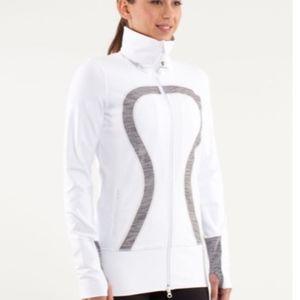 WHITE Lululemon In Stride Jacket